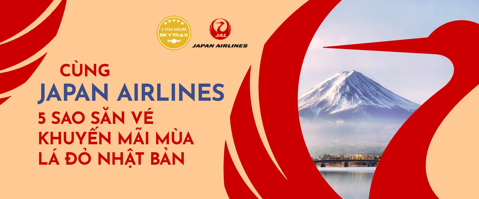 Cùng Japan Airlines 5 sao săn vé khuyến mãi du lịch Nhật Bản mùa thu