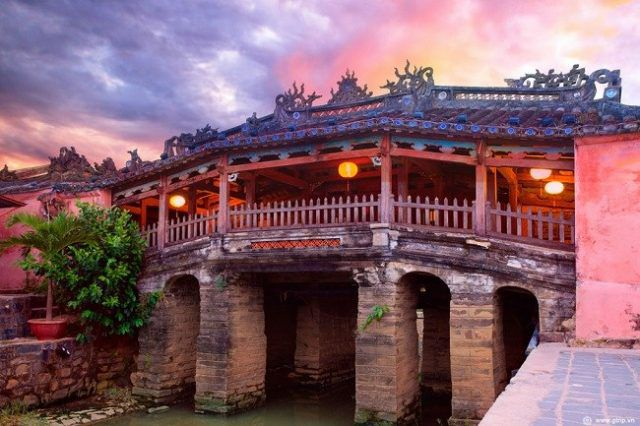 Chùa Cầu - biểu tượng của phố cổ Hội An khi du lịch Hội An - Đà Nẵng. Ảnh: Internet