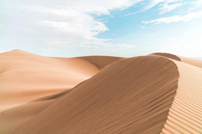 Du lịch Đồi cát Mũi Né với những cồn cát trải dài. Ảnh:  unspalsh