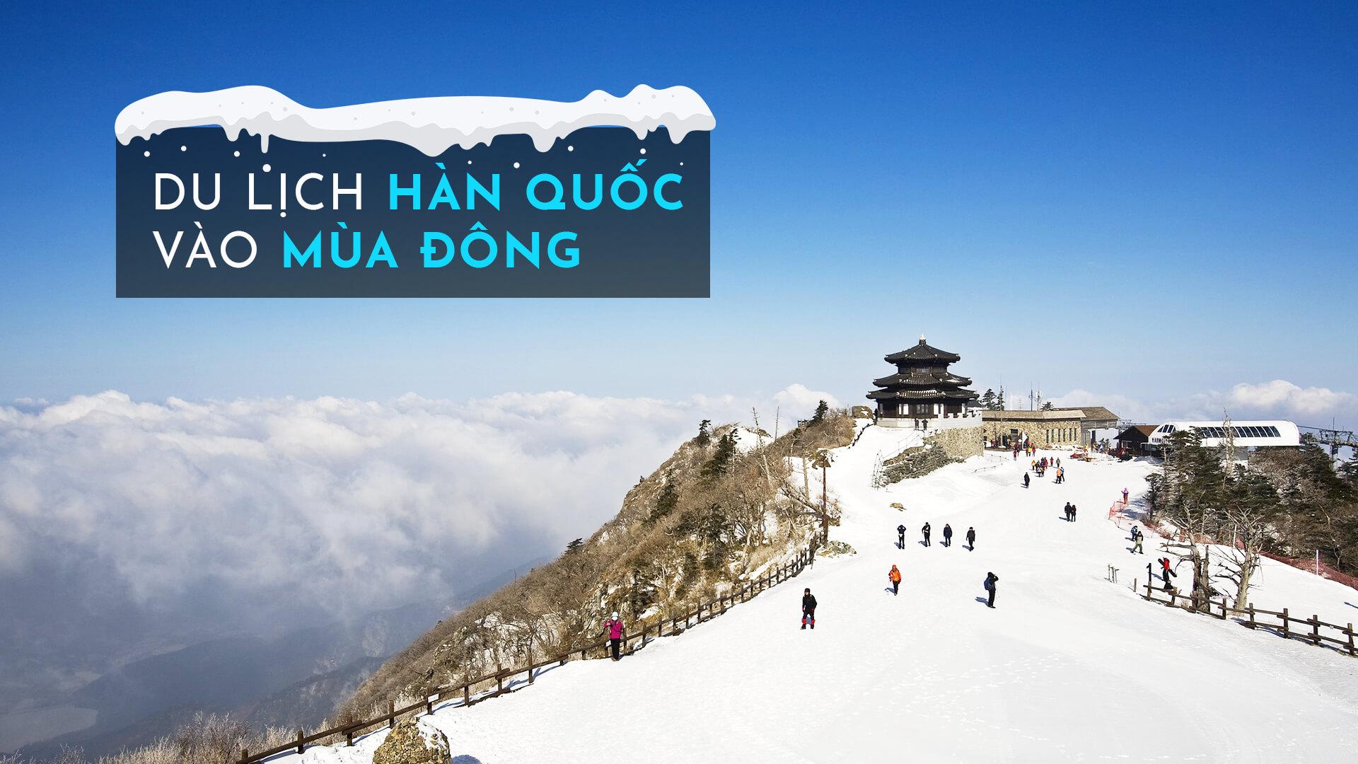 Top 7 tour du lịch Hàn Quốc mùa đông tham gia trượt tuyết hấp dẫn nhất